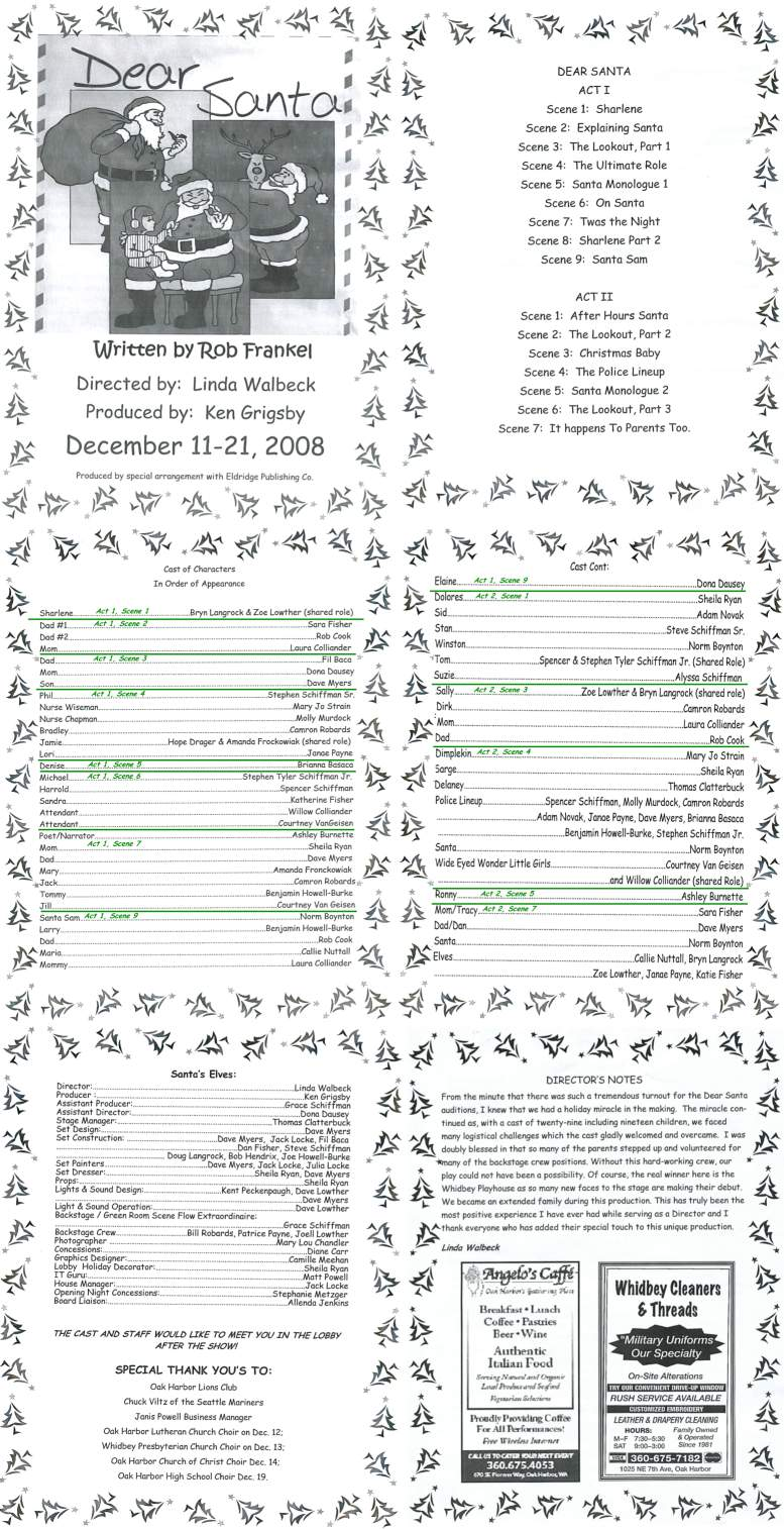 """Dear Santa"" Program Pages - 12/11/08