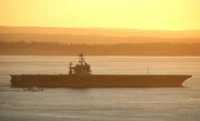 "Link to Facebook album ""Carrier USN Abraham Lincoln At Sunset - July 15, 2010"""