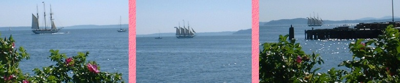 Schooner Sailing away from Pier 90 - June, 2001