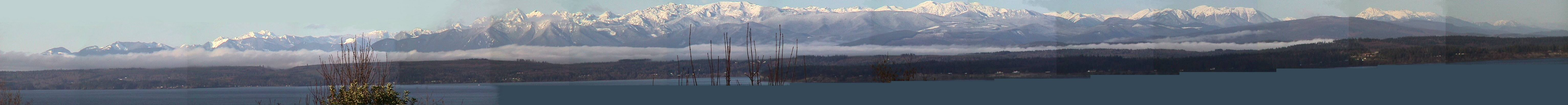 Our Panoramic View Of Olympic Mountains