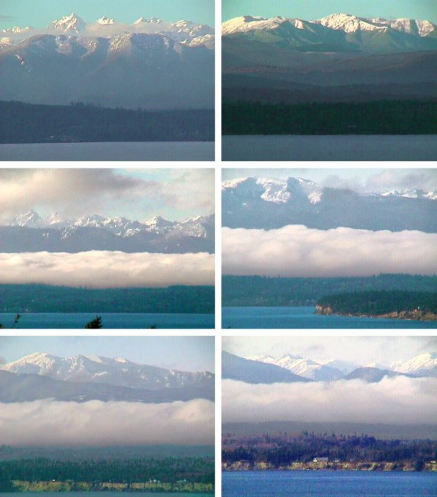Our Views of Olympic Mountains in December